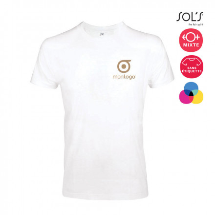 TEE SHIRT HOMME 'IMPERIAL FIT' BLANC 190 GR/M²
