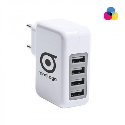ADAPTATEUR USB PUBLICITAIRE 4 PORTS 'FOURCE'