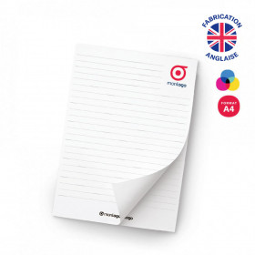 BLOC-NOTES A4 'GORDON' 25, 50, 100 FEUILLES