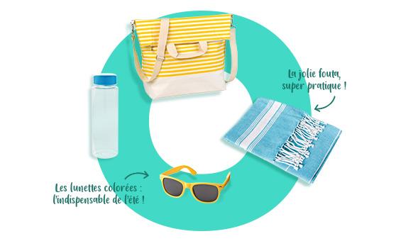 Goodies promotionnels vacances à la mer